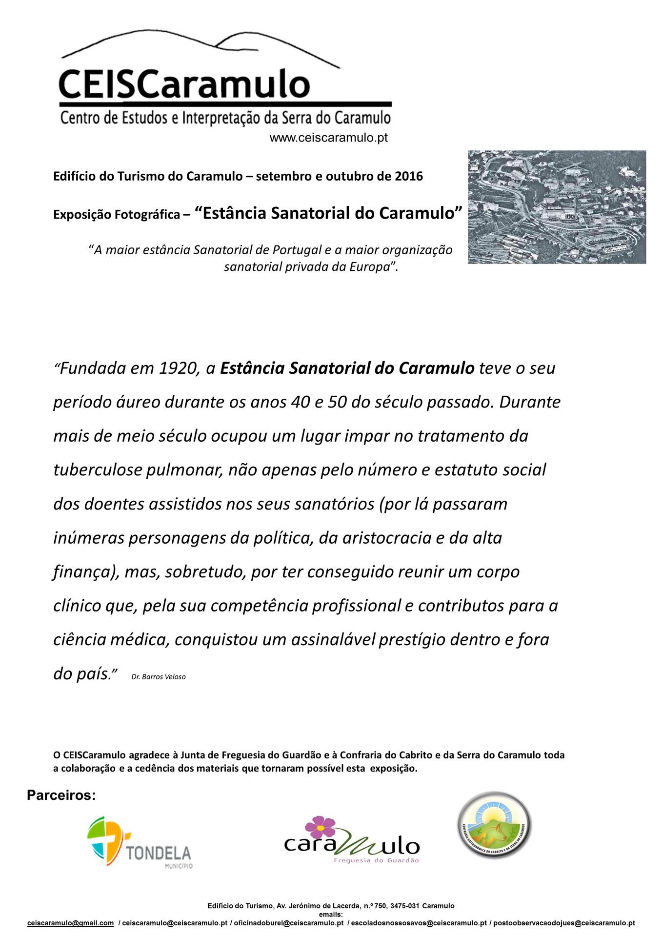 """Exposição Fotográfica """"Estância Sanatorial do Caramulo"""""""